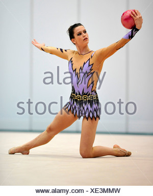 Mira Bimperling, Germany, German RSG Rhythmic Gymnastics Championships, Frankfurt am Main, Hesse, Germany, Europe - Stock Photo