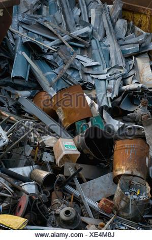 Metal collection, scrap heap - Stock Photo