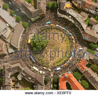 Aerial view, Borsigplatz square, motorcade to celebrate the team of the BVB, Borussia Dortmund, after winning the German - Stock Photo