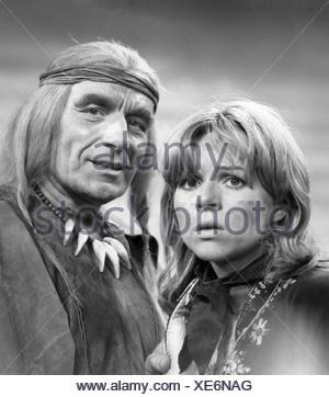 telecast, 'Polly', DEU 1975, director: Juergen Flimm, scene with: Cornelia Froboess, Romuald Pekny, tv, broadcast, television, h - Stock Photo