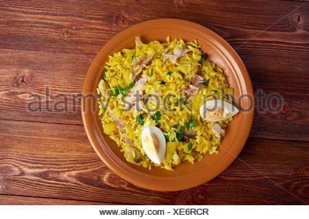 Scottish dish - Kedgeree - Stock Photo