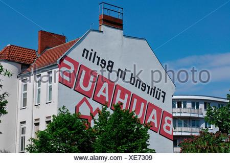 Bauhaus, Werbung, Fregestrasse, Steglitz, Berlin, Deutschland - Stock Photo