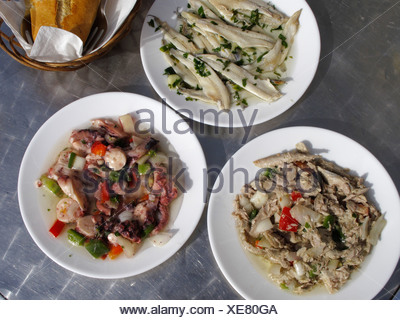 Seafood tapa, La Gomera, Canary Islands, Spain, Europe - Stock Photo
