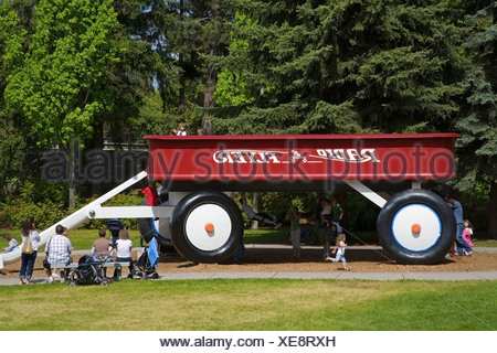 Children's Slide in Riverfront Park; Spokane, Washington, USA - Stock Photo