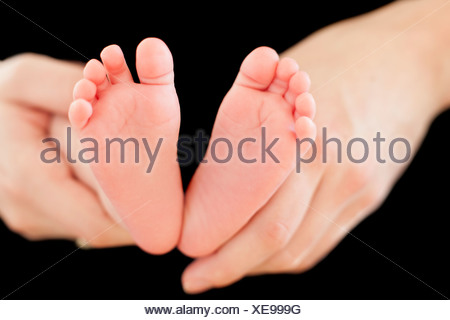 Baby's feet - Stock Photo