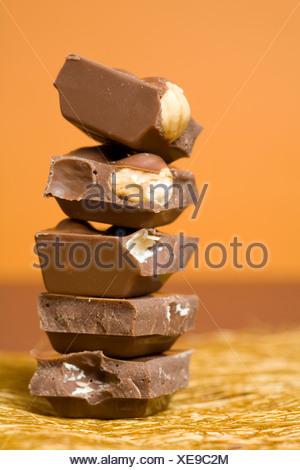 Chocolate stack - Stock Photo