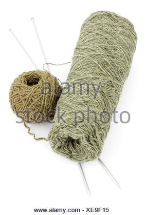Two balls of wool - Stock Photo