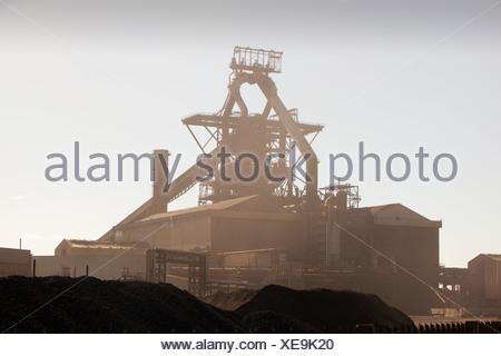 Redcar steel works, Teeside, UK. - Stock Photo