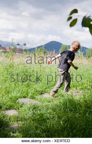 Boy running - Stock Photo