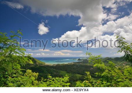 Indonesia, West Nusa Tenggara, Kabupaten Lombok Tengah, Kuta, Kuta Lombok, Landscape - Stock Photo