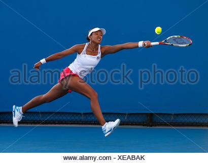 Anne Keothavong, GBR, Australian Open 2012, ITF Grand Slam Tennis Tournament, Melbourne Park, Melbourne, Victoria, Australia - Stock Photo