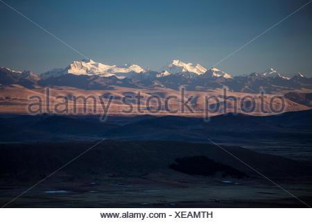 Ancohuma 6520 ms, Cordillera Real, near La Paz, - Stock Photo