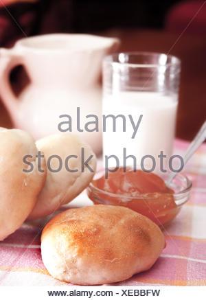breakfast on the table - Stock Photo
