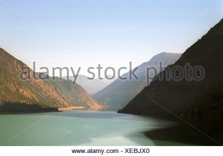 Seton Lake to Lillooet, Canada - Stock Photo