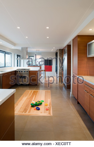 Open Floor Plan Of House With Kitchen Living Room And