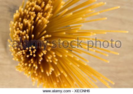 Vollkorn Spaghetti - Wholemeal Pasta - Stock Photo