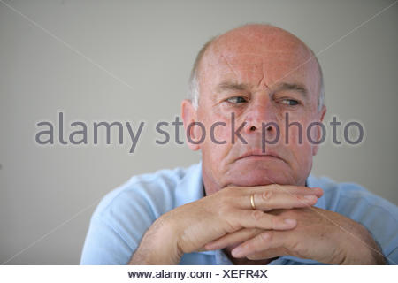 grandpa, grandfather, isolated, sad, human, human being, person, blank, - Stock Photo