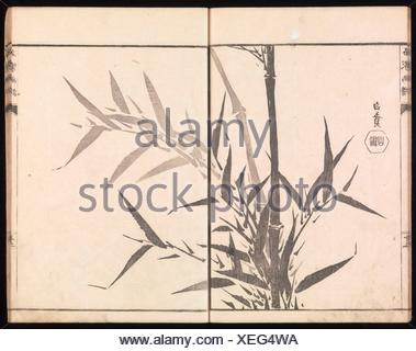 Sketches Reproduced from Works of Famous Artists. Artist: Kawanabe Kyosai (Japanese, 1831-1889) and many others; Period: Edo period (1615-1868); - Stock Photo