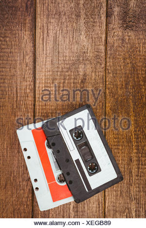 Close up view of old tape - Stock Photo