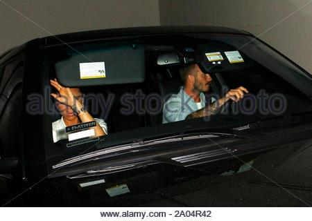 West Hollywood, CA - David und Victoria Beckham treffen Eva Longoria für Abendessen am Madeo in West Hollywood. Beide Eva und die Beckhams für den privaten Ausfahrt durch die Garage entschieden, die Kameras, die außerhalb erwartete zu vermeiden als sie nach links. AKM-GSI Juli 2, 2012 - Stockfoto