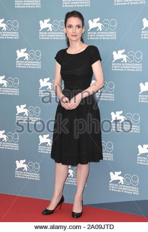"Venedig, Italien - Winona Ryder besucht ""photo Call The Iceman"" in Venedig, Italien. AKM-GSI 30. August 2012 - Stockfoto"