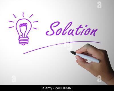 Lösungskonzept Symbol bedeutet, dass ein Problem beheben und Entwirren. Kreative und innovative Ergebnisse - 3D-Darstellung - Stockfoto