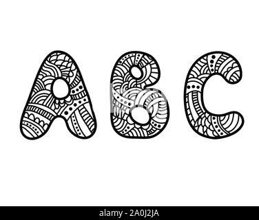Doodle Hand gezeichnet ABC Buchstaben - Stockfoto