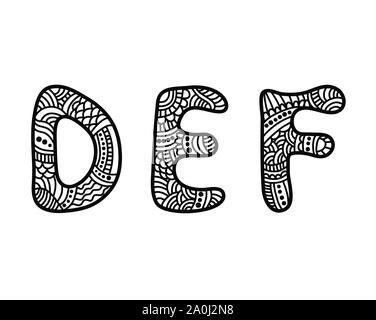 Doodle hand Schriftwechsel - Stockfoto
