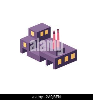 Flache isometrische Stil - Stockfoto