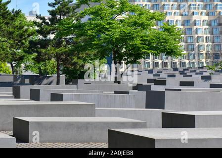 Holocaust-mahnmal oder Denkmal für die ermordeten Juden Europas in Berlin, Deutschland - Stockfoto