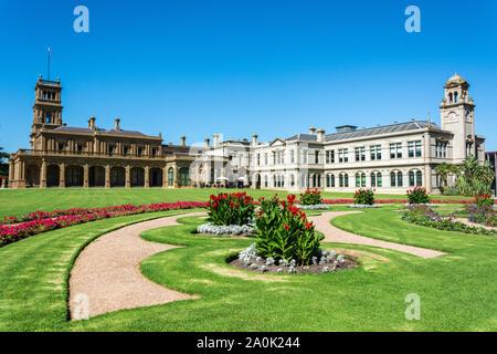 Werribee, Victoria, Australien - 19. März 2017. Außenansicht der Werribee Park Mansion in Victoria, Australien. - Stockfoto