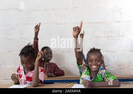 Kopieren Sie Platz in Klasse Schule der Afrikanischen schwarzen Kinder - Stockfoto