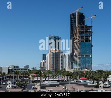 Sunny Isles Blick auf constraction - Stockfoto