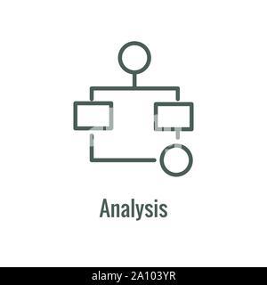 Die Effizienz des Workflows Symbol zeigt ein Aspekt der Effizienz im Workflow - Stockfoto