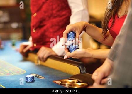 Spielmarke Beim Roulett