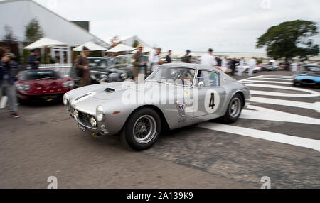 1961 Ferrari 250 GT SWB/C angetrieben von Dario Franchitti & John Hugenholtz, (Racing Team Holland), in der kinrara Trophy Rennen auf dem Goodwood Revival 13.
