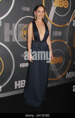 Los Angeles, USA. 22 Sep, 2019. Emilia Clarke 09/22/2019 Die 71. jährlichen Primetime Emmy Awards HBO nach Partei im Pacific Design Center in West Hollywood, CA Credit: Cronos/Alamy Leben Nachrichten gehalten - Stockfoto