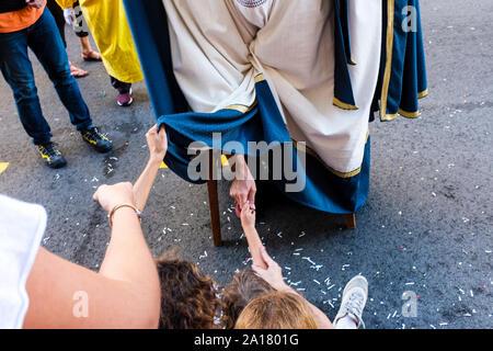 """Barcelona, Spanien. 24 Sep, 2019. """"Cavalcada de la Mercè',?? Eine der Höhepunkt der traditionellen Kultur der Mercé Festlichkeiten, ist die große Parade der Riesen und große Köpfe, die sich im Zentrum der Stadt Barcelona stattfindet. Dieser Parade beginnt um 18 Uhr in der Calle Pelai Straße in der Nähe der Plaza Catalunya, La Rambla, dann unten auf der Ferran Straße biegen Sie an der Plaça de Sant Jaume zu beenden. (Foto von Francisco Jose Pelay/Pacific Press) Quelle: Pacific Press Agency/Alamy leben Nachrichten"""