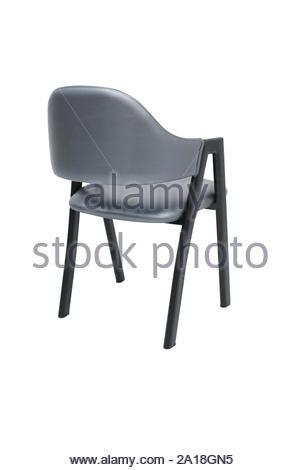 Dining Chair isoliert. Metall gepolstertem Sessel Design für moderne Restaurants und Coffee Shops. Esszimmer Möbel. - Stockfoto