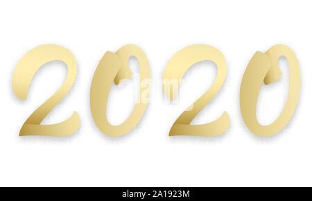2020 frohes neues jahr golden laser cut schriftzug. Black Bedroom Furniture Sets. Home Design Ideas