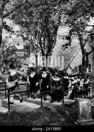 Festakt der Fortschritte des Pilgers, Plymouth, massachusset, 1961 - Stockfoto