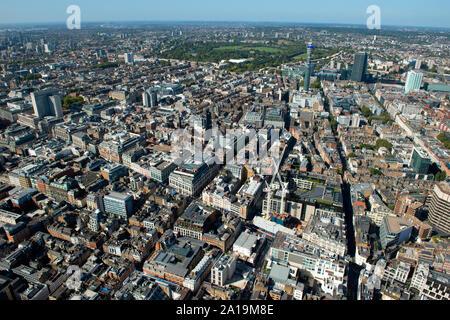 Das West End als aus der Luft gesehen. - Stockfoto