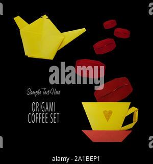 Origami von Kaffee - Stockfoto