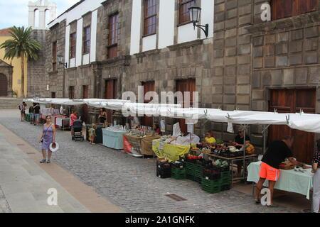Markt öffnen, Garachico, Teneriffa, Kanarische Inseln, Spanien 2019 - Stockfoto
