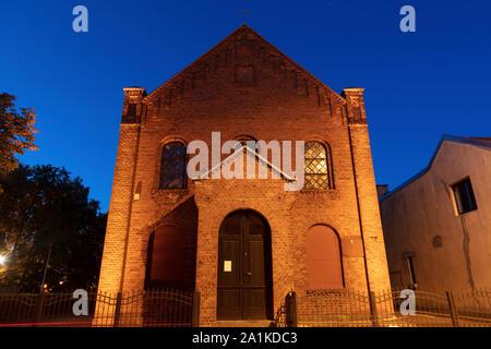 Kirche in Mragowo. Kaplityny, Ermland-Masuren, Polen. - Stockfoto