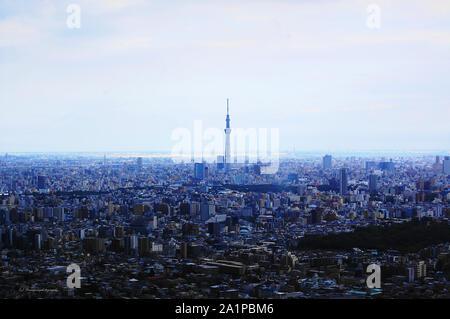 Tokio Skytree sticht aus dem Stadtbild von Tokio anzeigen