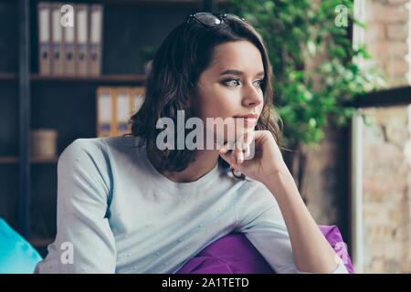 Close-up Profil Seitenansicht Portrait von Nizza cute attraktive char - Stockfoto