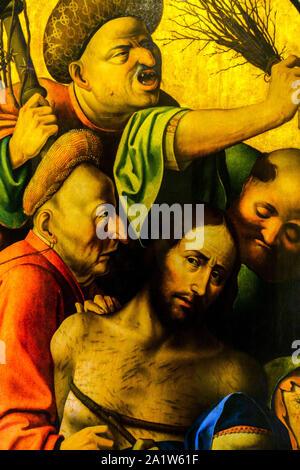 Valencia das Museo de Bellas Artes in Valencia: Hieronymus Bosch Triptychon der Passion, detail Ausschnitt - Stockfoto