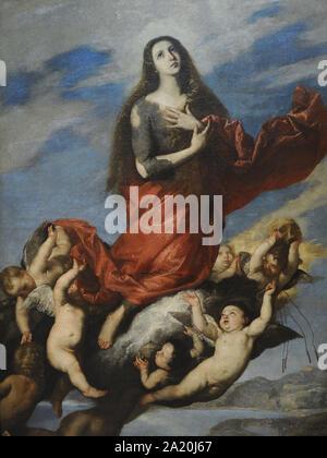 Juseppe de Ribera (1591-1652). Spanischer Maler. Annahme von Maria Magdalena, 1636. San Fernando Königliche Akademie der Schönen Künste in Madrid. Spanien. - Stockfoto