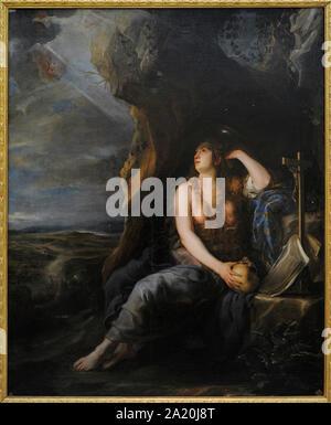 Juan Carreño de Miranda (1614-1685). Spanischer Maler. Reuige Magdalena, 1654. San Fernando Königliche Akademie der Schönen Künste in Madrid. Spanien. - Stockfoto